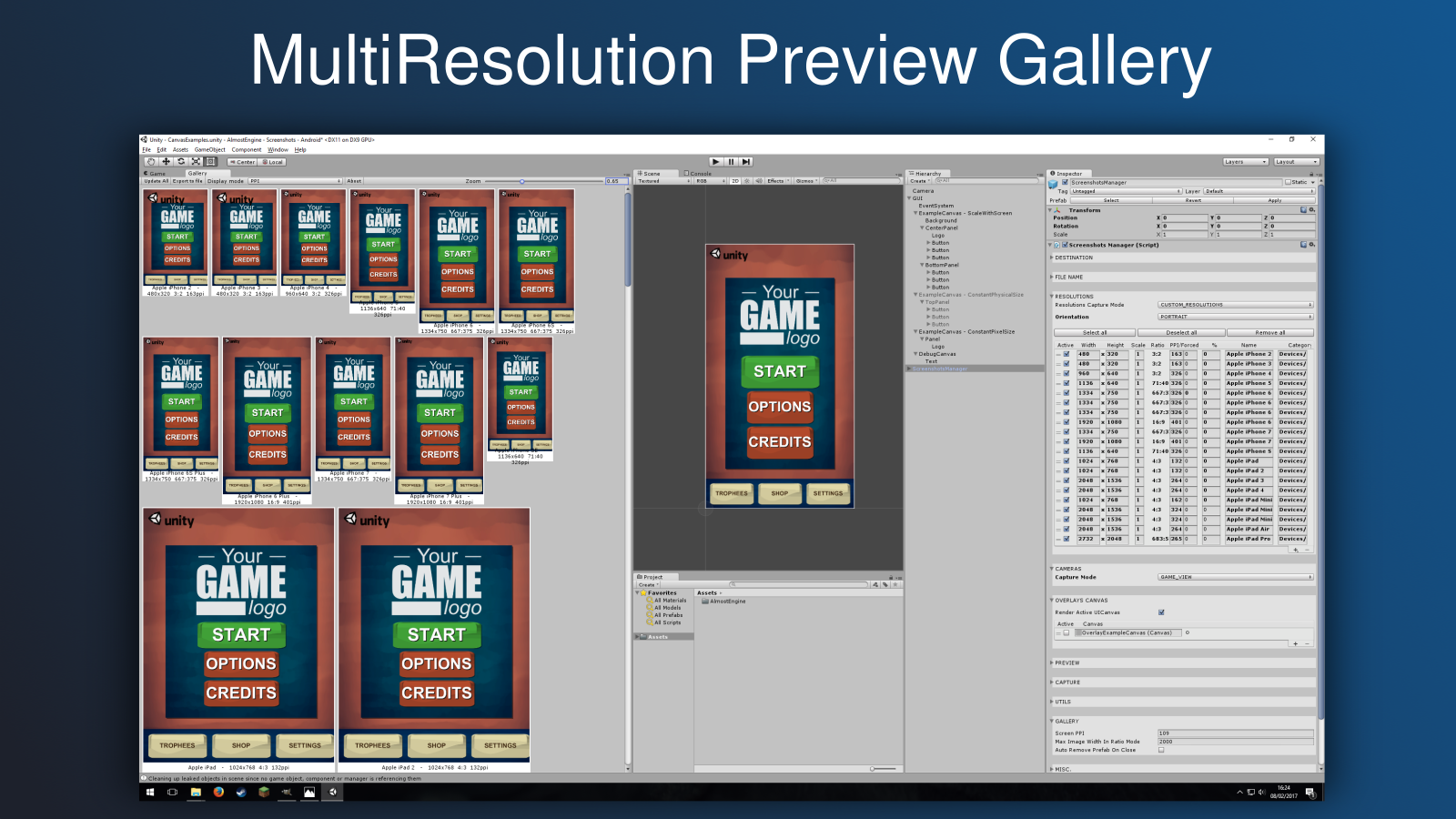Mutli Resolution Preview Gallery